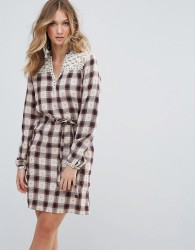 Deby Debo Valis Checked Shirt Dress - Red