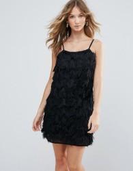 Deby Debo Vegas Fringe Cocktail Dress - Black