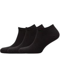 Decoy 3 PAR - Decoy Moderne Sorte Sneaker Sokker / Strømper til damer 20294