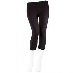 Decoy Jersey Stretch Capri Leggings til Damer i Sort 86070 1100