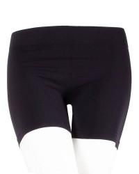 Decoy Sømløs Stretch Hotpants til damer i Sort 19902 1100