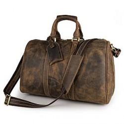 Delton Bags Camel Læder Weekendtaske