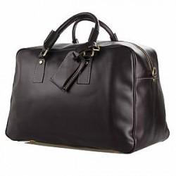 Delton Bags Marion Mørkebrun Weekend Lædertaske