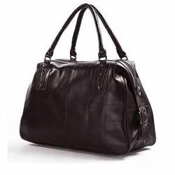 Delton Bags Mørkebrun Læder Weekendtaske