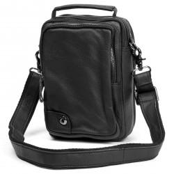 Delton Bags Sort Mini Delton Lædertaske