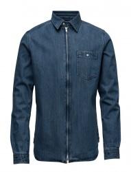 Denim Shirt W/Zipper - Gots