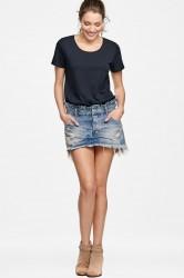 Denimnederdel Le Cult Mini Skirt, slim fit