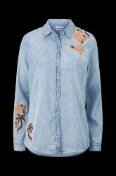 Denimskjorte Light Wash Denim Shirt