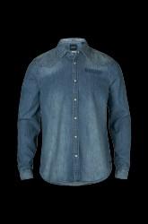 Denimskjorte med trykknapper