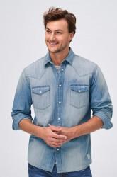 Denimskjorte med vasket look
