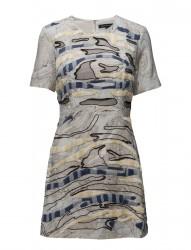 Derain Stitch Ss Rndk Dress