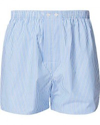 Derek Rose Classic Fit Cotton Boxer Shorts Blue Stripe men S Blå