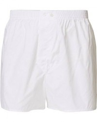 Derek Rose Classic Fit Cotton Boxer Shorts White men M Hvid