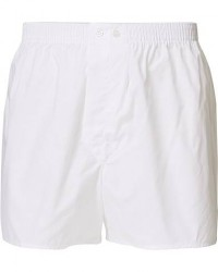 Derek Rose Classic Fit Cotton Boxer Shorts White men S Hvid