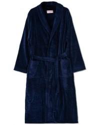 Derek Rose Cotton Velour Gown Navy men XL Blå