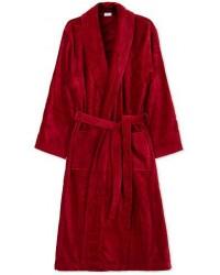 Derek Rose Cotton Velour Gown Wine Red men L Rød