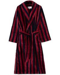 Derek Rose Cotton Velour Striped Gown Red/Blue men L
