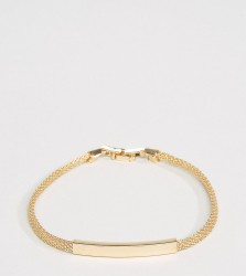 DesignB Chain ID Bracelet In Gold Exclusive To ASOS - Gold