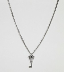 DesignB Key Pendant Necklace In Silver Exclusive To ASOS - Silver