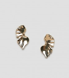 DesignB London abstract gold oversized stud earrings - Gold