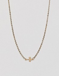 DesignB London Cross Necklace - Gold