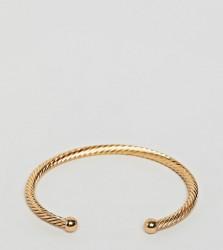 DesignB London TWISTED gold cuff BRACELET - Gold