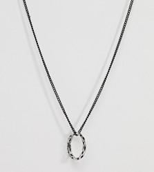 DesignB Pendant Necklace In Black & Silver Exclusive To ASOS - Silver