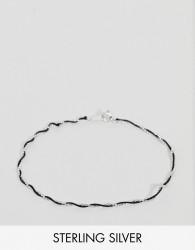 DesignB Sterling Silver & Silk Twist Bracelet - Silver