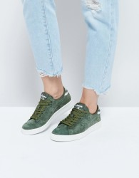 Diadora Game Low Trainers In Khaki Suede - Green