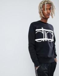 Diadora sweatshirt with Spectra bold logo in black - Black