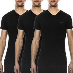 Diesel 3-pak Jake V-neck T-shirt - Black - X-Large