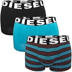 Diesel 3-pak Shawn Seasonal Boxer Trunk - Turquoise striped * Kampagne *