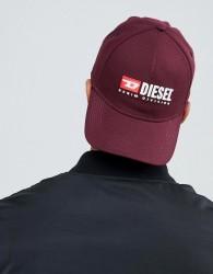 Diesel logo cap burgundy - Red