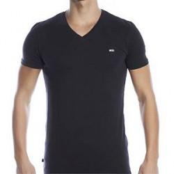 Diesel Michael V-neck T-shirt - Black - X-Large