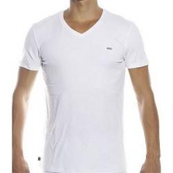 Diesel Michael V-neck T-shirt - White - Large