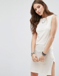 Diesel Sheer Panel Tunic Dress - White