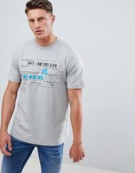 Diesel T-Just-W2 Scratch Logo T-Shirt Grey - Grey