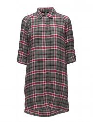 Dkny Checked In Sleepshirt L/Sleeve