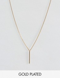 Dogeared Gold Plated Balance Vertical Tube on Beaded Chain Necklace - Gold