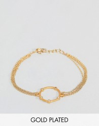 Dogeared Gold Plated Infinity & One Halo Bracelet - Gold