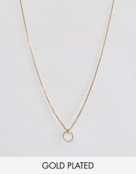 Dogeared Gold Plated Karma Tiny Loop Necklace - Gold