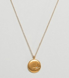 Dogeared Gold Plated One in a Billion Sparkle Star Disc Necklace with Swarovski Crystal - Gold