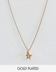 Dogeared Gold Plated One In A Million Celestial Star Pendant with Sparkle Necklace - Gold
