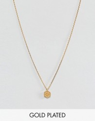 Dogeared Gold Plated Token of Luck Horseshoe Charm Necklace - Gold