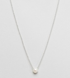 Dogeared Pearl Necklace - Silver