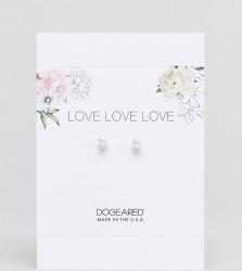 Dogeared Pearl Stud Earrings - Silver