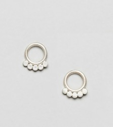 Dogeared Play It By Ear Sterling Silver Dotted Circle Stud Earrings - Silver