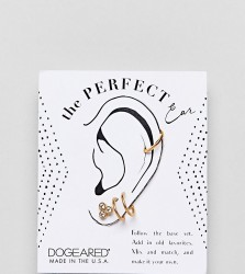 Dogeared Sterling Silver Gold Plated Perfect Ear Layering Pack - Gold