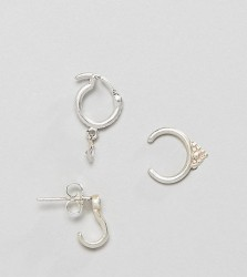 Dogeared Sterling Silver Perfect Ear Layering Pack - Silver