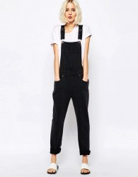 Dr Denim Vilde Relaxed Dungaree - Black